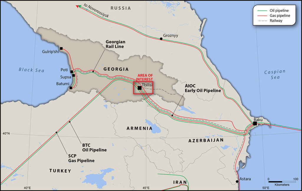 Map of Georgia highlighting area of interest
