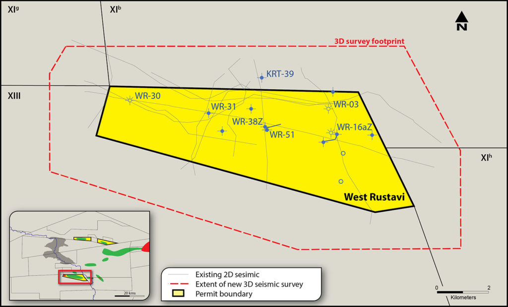 West Rustavi field map